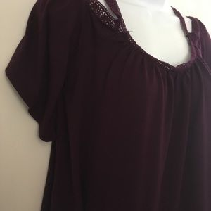 Mudd Tops - Mudd Dark Red Maroon Top